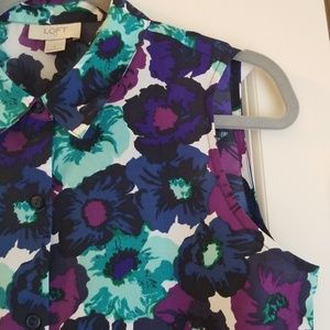 Loft floral sleeveless top